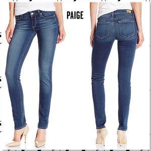 Paige Skyline Skinny Stretch Jeans in Easton Wash